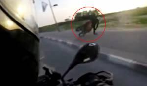 המרדף של השוטר אחר רוכב אופנוע • צפו