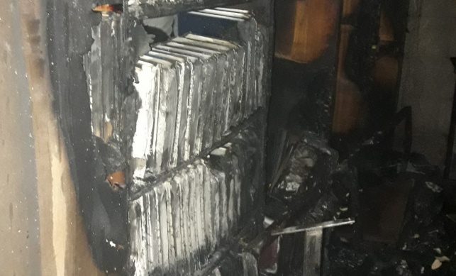 הספרייה העשירה שניזוקה קשות