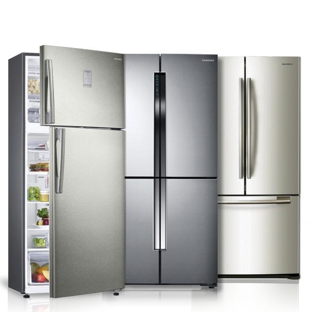שטח כפול במקרר אחד. סמסונג.