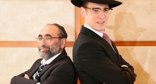 יעקב ריבלין עם עמיתו אבי בלום