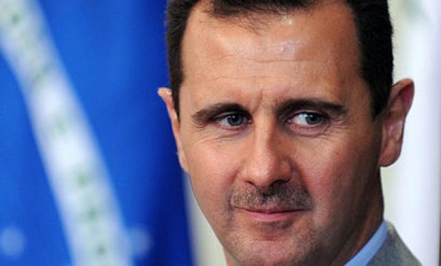 נשיא סוריה בהופעה ציבורית נדירה