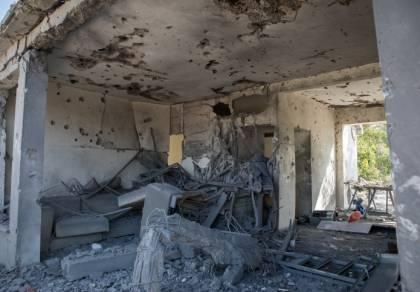 בית שנפגע הבוקר באשקלון