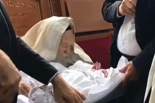 """הסנדק - הגר""""ח; התינוק - על-שם מרן • צפו"""