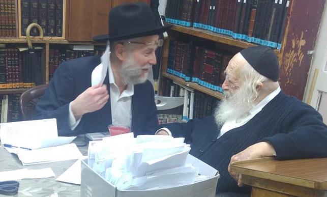 """הרב אברהם וולפסון ז""""ל אצל מרן הגר""""ח קנייבסקי שיבל""""א"""