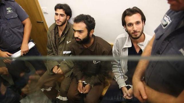 שלושת המחבלים בבית המשפט