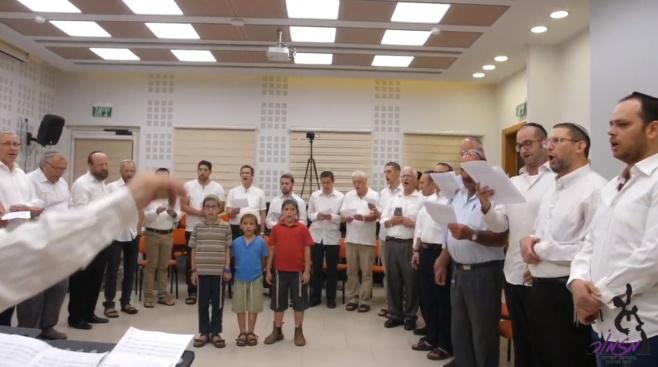 עשרות לוויים התכנסו לשיר יחד: צפו בביצוע