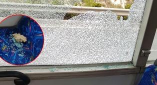 החלון השבור והאבן - יידוי האבנים על האוטובוס: 6 נערים נעצרו