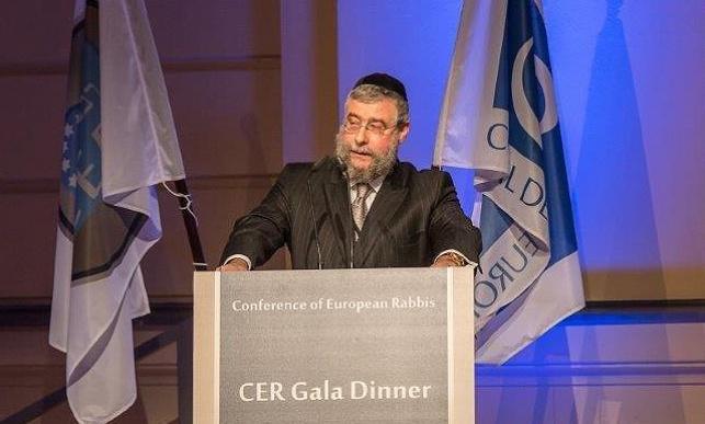 הרב גולדשמיט בנאומו בוועידה