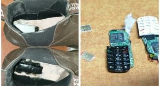 בתוך הנעל: ניסה להבריח פלאפונים לכלא