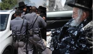 """הגאב""""ד ברכב - בהפגנה לפני מספר ימים בגוש עציון"""