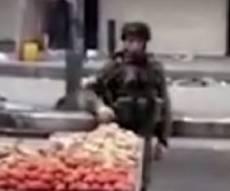 """גנב פירות מפלסטיני והושעה מצה""""ל • צפו"""