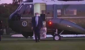 """אחרי שחלה: כך חזר נשיא ארה""""ב לבית הלבן"""