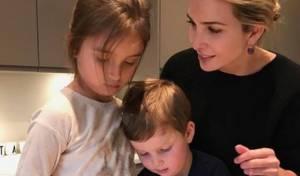 איוונקה טראמפ הכינה אוזני המן עם הילדים