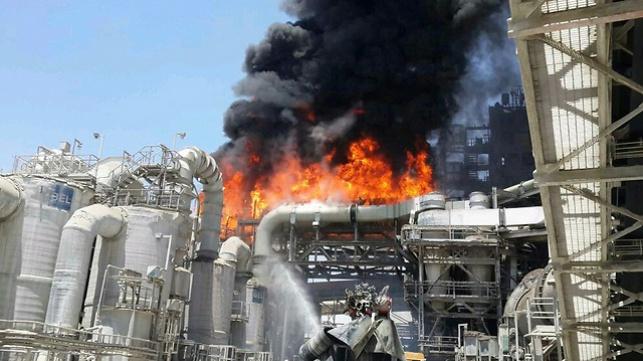 שריפת הענק במפעל