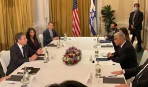 שר החוץ לפיד ומזכיר המדינה האמריקני בלינקן
