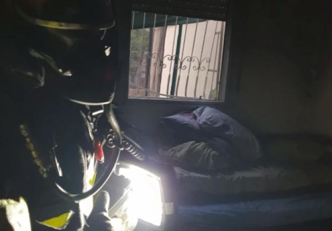 """תיעוד: הבית המפויח לאחר השריפה בבי""""ש"""