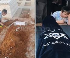 הנכדים בהלוויה - דומע: הנכדים התקשו להיפרד מהסבתא