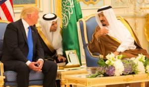 הנשיא טראמפ והמלך סלמאן - נתניהו הזמין בכירים סעודים לסיור בהר הבית