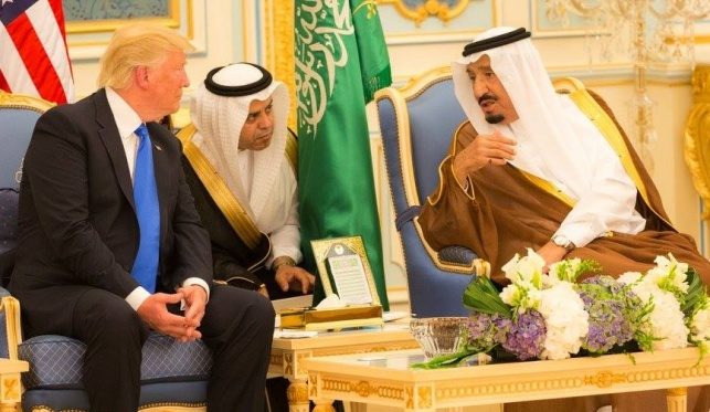 הנשיא טראמפ והמלך סלמאן