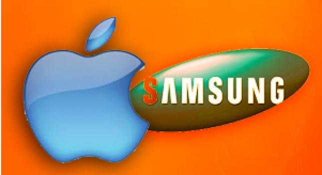 לוגו החברות 'סמסונג' ו'אפל'