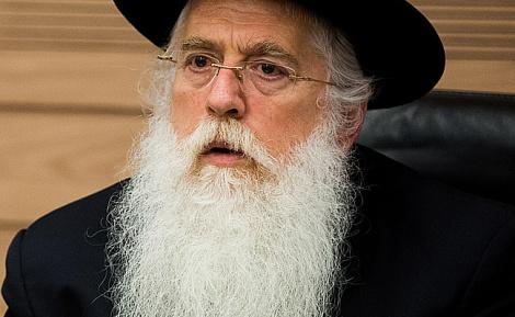 """סגן השר מאיר פרוש - מאיר פרוש במרתון פגישות עם האדמו""""רים"""