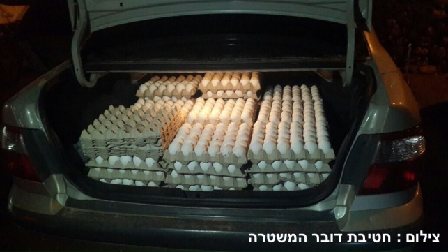 180 תבניות ביצים מוברחות נתפסו