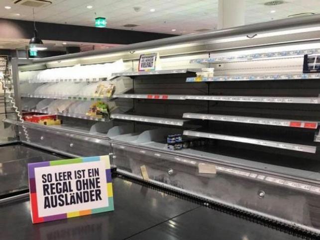 הסופרמרקט הגרמני הפתיע ורוקן את המדפים