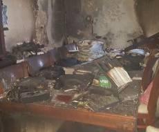 הבית לאחר השריפה
