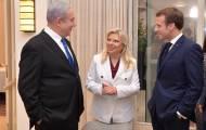 הזוג נתניהו עם הנשיא צרפת מקרון