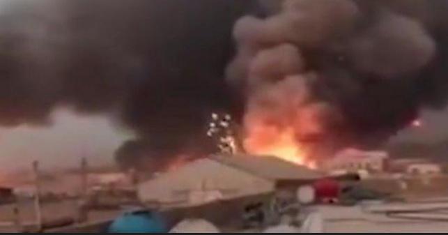השריפה בעיראק במחסן הנשק