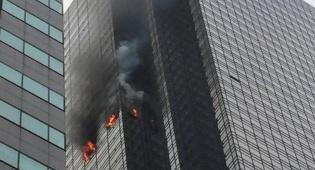 השריפה בבניין - הרוג ושישה פצועים בשריפה במגדל טראמפ