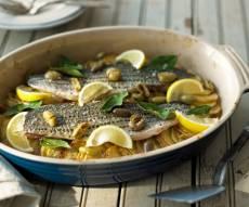דגים ותפוחי אדמה בתנור