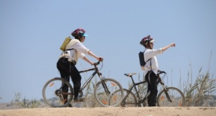 רוכבי אופניים, אילוסטרציה