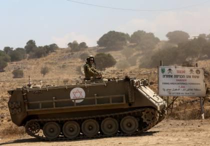 """תגבור כוחות צה""""ל בגולן - בחודש שעבר"""