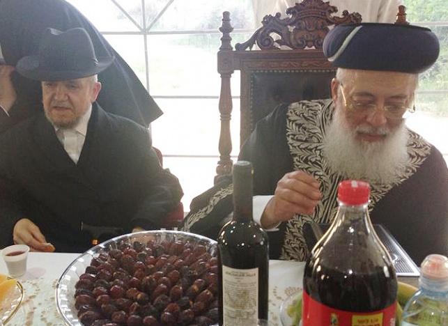 """הגר""""ש עמאר לצד הגר""""מ מזוז, היום בירושלים"""