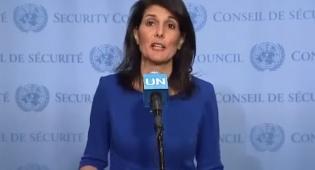 """ניקי היילי - שגרירת ארה""""ב באו""""ם: לא מנגחים את ישראל"""