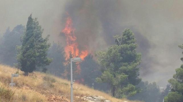 שריפה גדולה משתוללת סמוך לקריית שמונה; תושבים בתל חי פונו