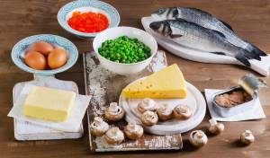 מאכלים המכילים ויטמין D