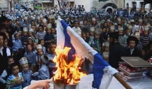 תיעוד: הקיצונים שורפים דגל ישראל