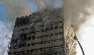 טהרן: בנין גבוה עלה באש וקרס על יושביו