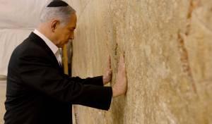"""ראש הממשלה בנימין נתניהו בכותל - הגר""""ש עמאר לנתניהו: שמור על קדושת הכותל"""
