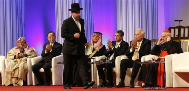 הרב פנחס גולדשמידט בפתיחת המועצה נגד אנטישמיות