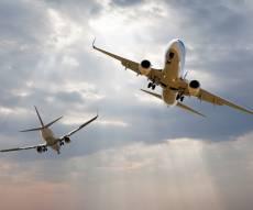 אילוסטרציה - כמעט התנגשות בין 2 מטוסים ליד תל אביב