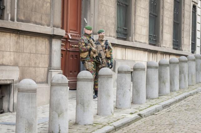 אבטחה על בית הכנסת בבריסל