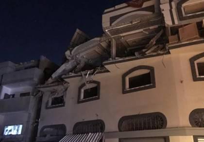 המבנה שהותקף הלילה ברצועה