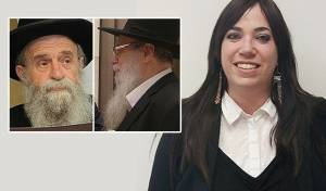 """חוי טוקר לצד אביה הרב וולף וחמיה הרב טוקר זצ""""ל"""