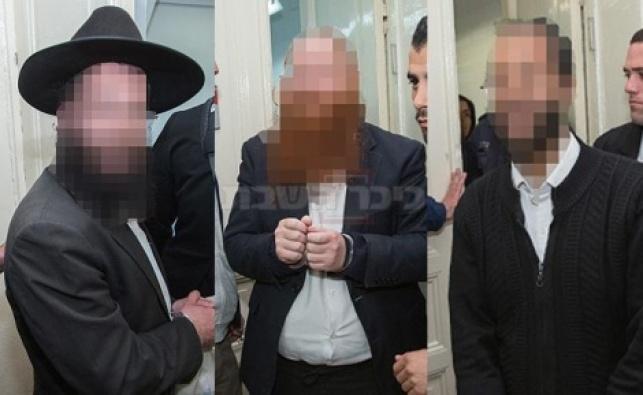 שלושת החשודים, אתמול בבית המשפט