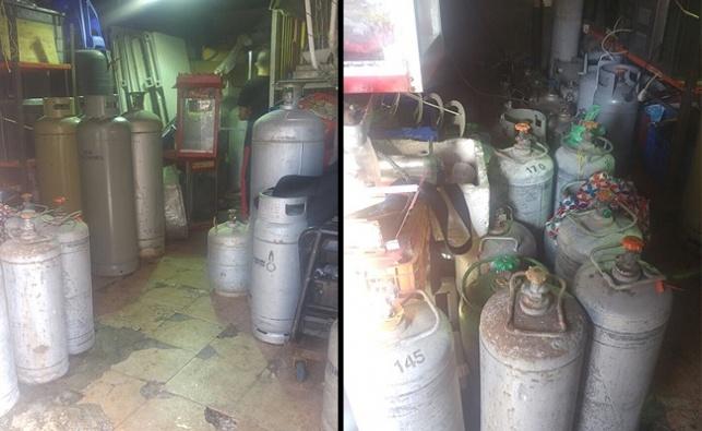 כ-80 בלוני גז התגלו בבניין דירות בבני ברק