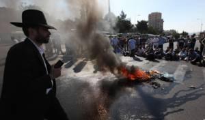 העימותים אחרי מעצרו של הרב ליאור (פלאש 90)