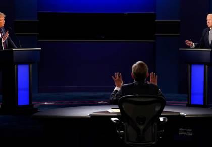 העימות בין ביידן לטראמפ